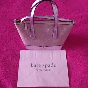 Beautiful sparkly small satchel bag by Kate Spade